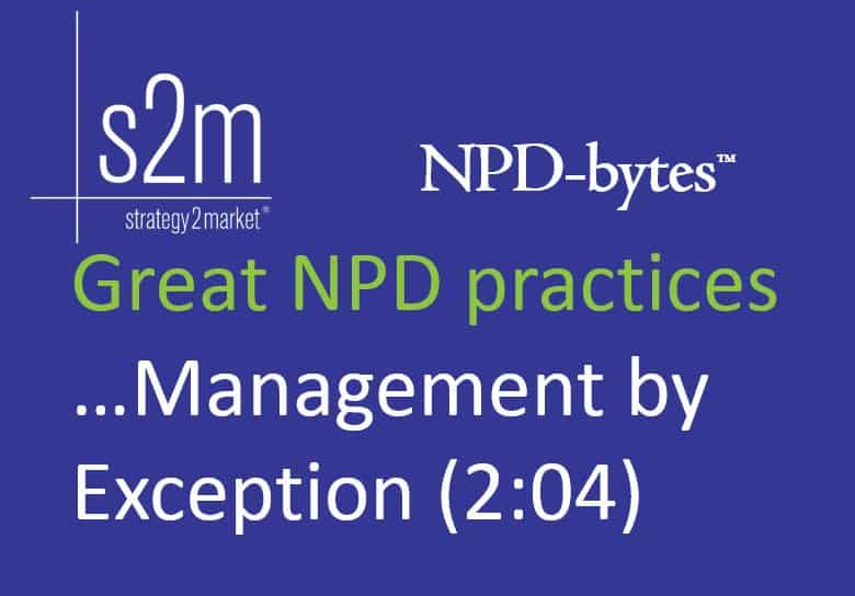 NPD-bytes Management by Exception